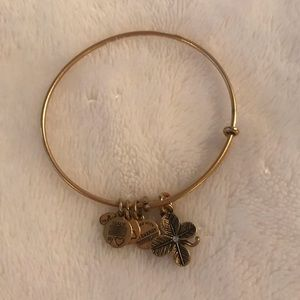 Alex and Ani Shamrock Gold Charm Bracelet